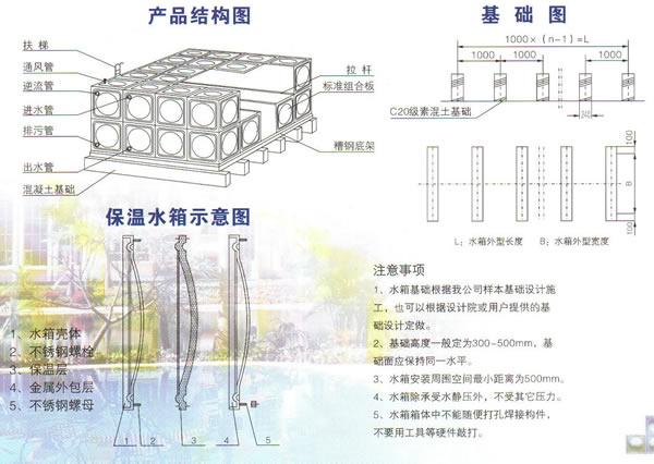 旻浩不锈钢水箱工程样本及设备图纸下载